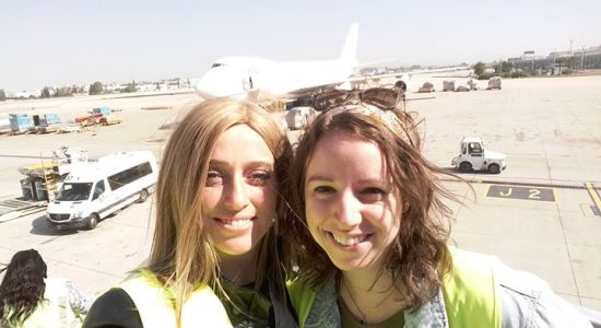 Some of our wonderful staff were at the airport recently